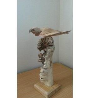 Parasite wood carved eagle