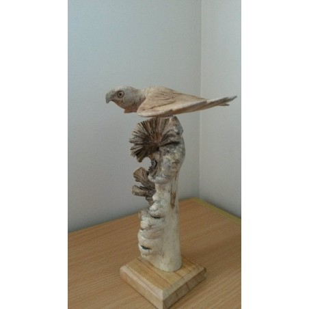 Fair Trade Hand Carved Parasite Wood Eagle Carving