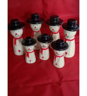 Tabaka Chigware Hand Carved Painted Kisii Soapstone Snowman