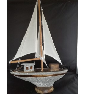 Fair Trade Wooden Nautical Model Yacht
