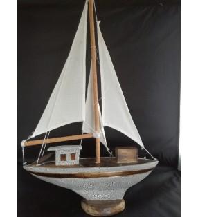 Fair Trade Wooden Nautical Model Yacht