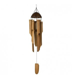 Medium Coconut Bamboo Wind Chimes design 3