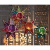 Fair Trade Moroccan Style Hanging Star Glass Lantern