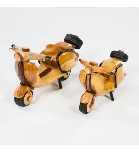 Fair Trade Wooden Bamboo Model Scooter Moped Vespa Lambretta