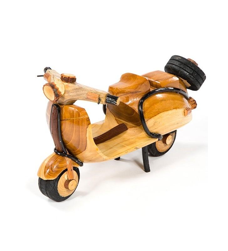 Large Fair Trade Wooden Bamboo Model Scooter Moped Vespa Lambretta